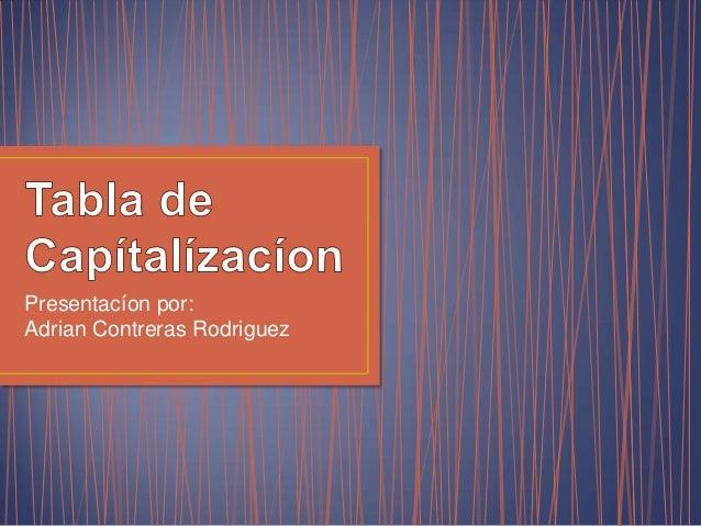 Presentacíon por:Adrian Contreras Rodriguez