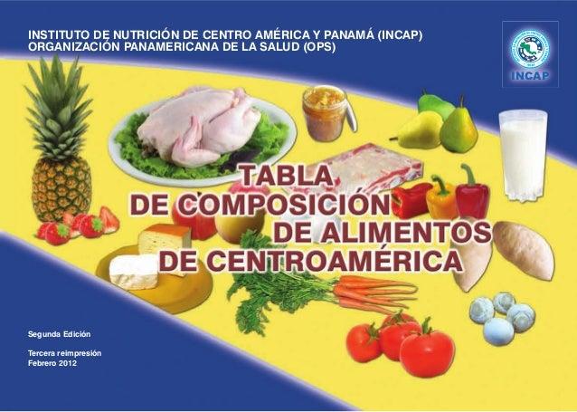 Tabla de composici n de alimentos - Valor nutricional de los alimentos tabla ...