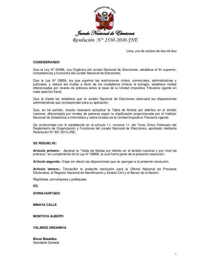 ]âÜtwÉ atv|ÉÇtÄ wx XÄxvv|ÉÇxá                          Resolución N° 2530-2010-JNE                                        ...