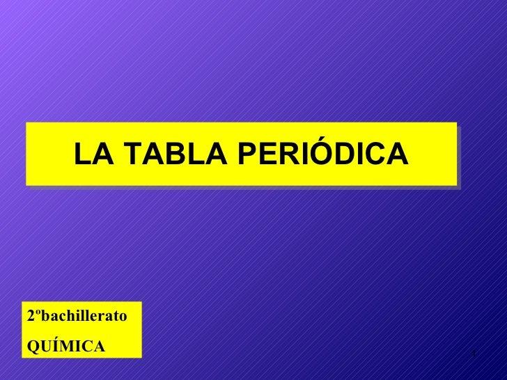 Tablaperiodica