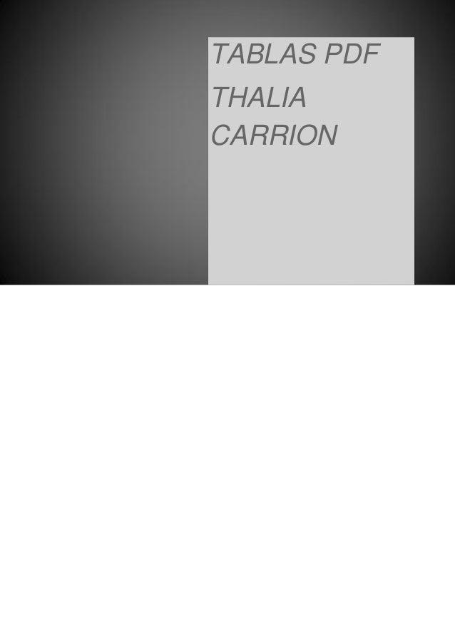 TABLAS PDF THALIA CARRION