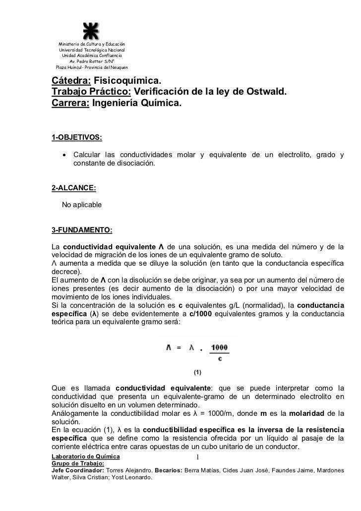 Ministerio de Cultura y Educación   Universidad Tecnológica Nacional    Unidad Académica Confluencia        Av. Pedro Rott...