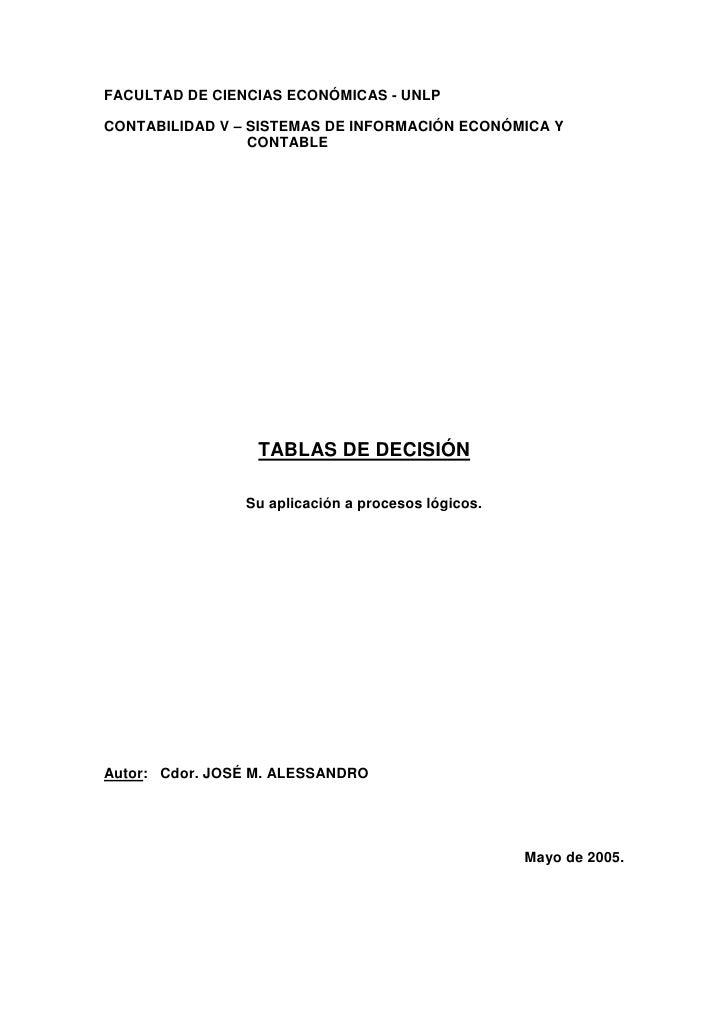 Tablas decision
