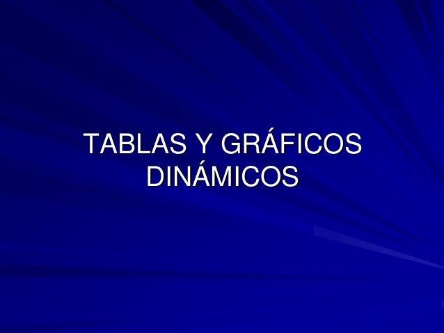 TABLAS Y GRÁFICOS    DINÁMICOS