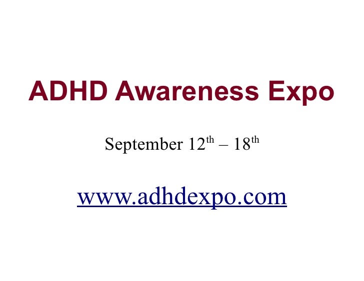 ADHD Awareness Expo Take 1 Table
