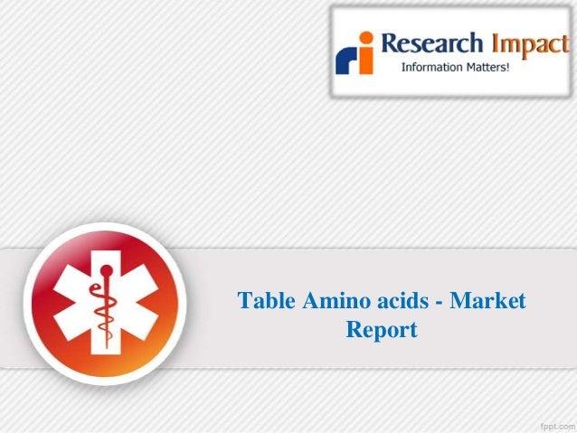 Table amino acids- Market research report