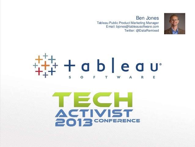 Tableau   tech activist conference