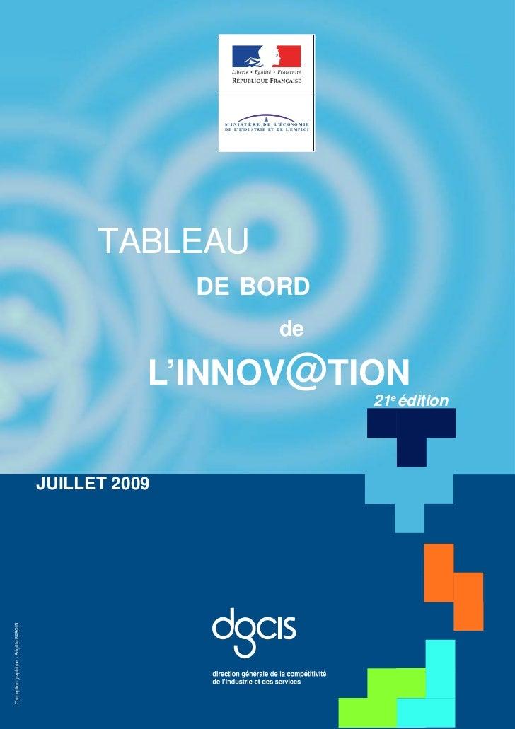 Tableau De Bord Innovation 2009