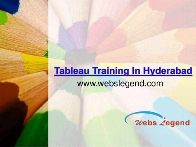 Tableau Training In Hyderabad | Online Tableau training in Hyderabad |
