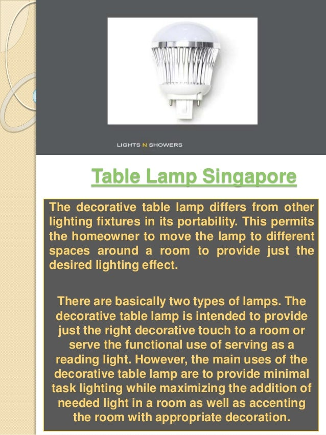 Floor Lamp Singapore Table Lamp Singapore The