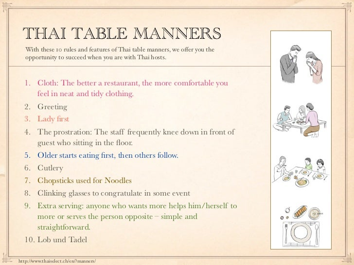 Thai Table manners : thai table manners 36 728 from www.slideshare.net size 728 x 546 jpeg 113kB