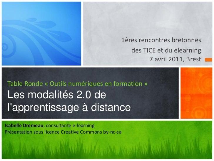 1ères rencontres bretonnes                                                     des TICE et du elearning                   ...