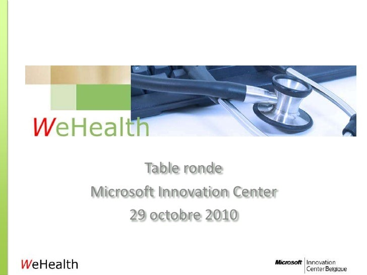 Table ronde WeHealth Introduction