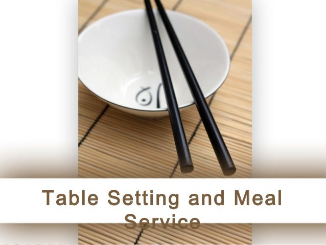 Table Setting and Meal       Service                    Page 1