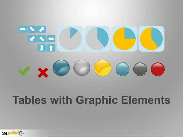 Tables with Graphic Elements PPT