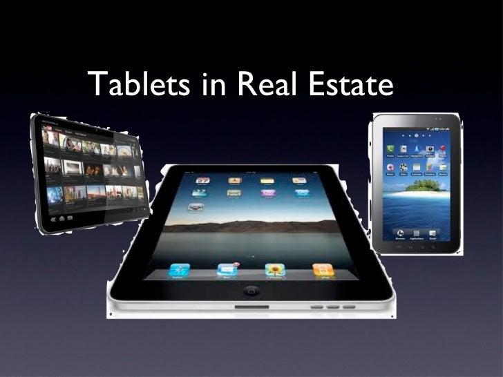 Tablets for Real Estate