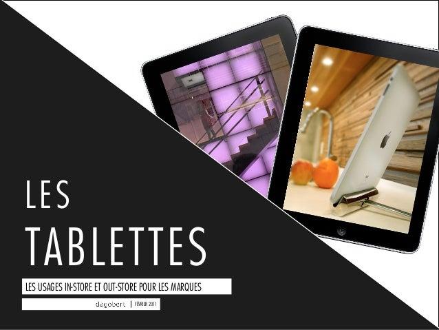 Tablettes : les usages outstore et instore pour les marques