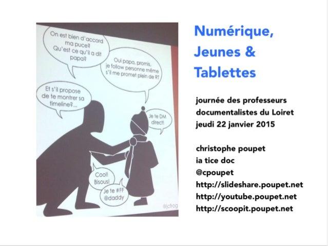 Tablettes numeriques - pratiques des jeunes -