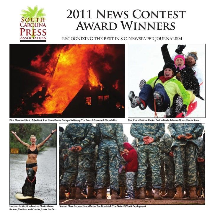2011 SCPA News Contest Winners • 1                                                    2011 News Contest                   ...