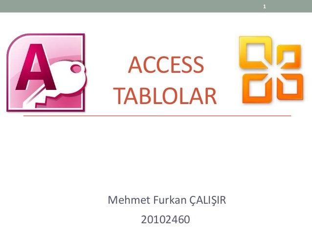 Tablolar access