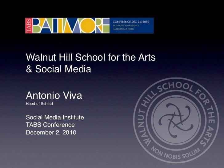 Walnut Hill School & Social Media