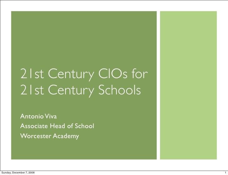 21st Century CIOs for 21st Century Schools