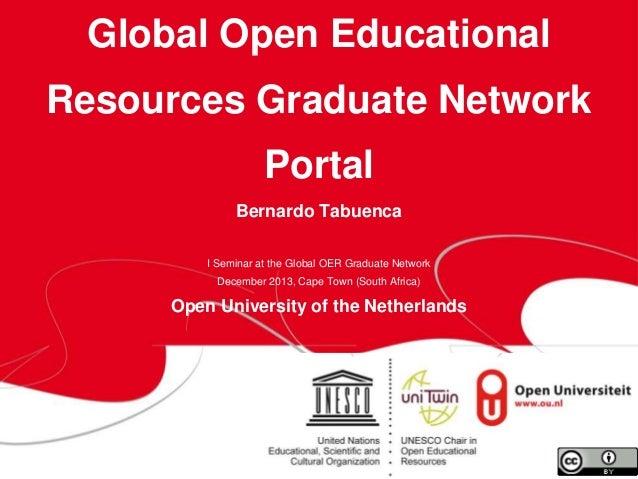 Global Open Educational Resources Graduate Network  Portal Bernardo Tabuenca I Seminar at the Global OER Graduate Network ...