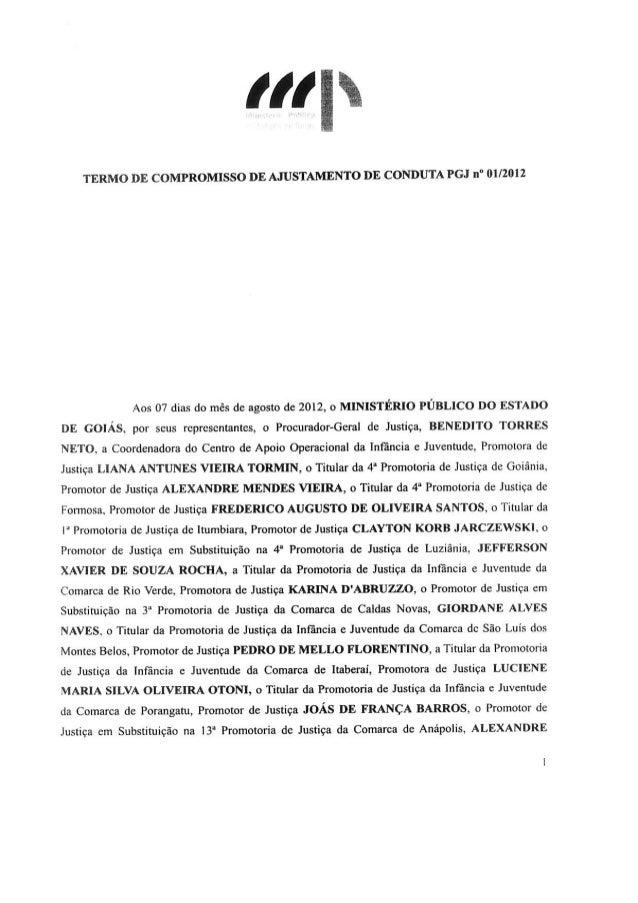 Tac   ministério público e governo de goiás  sistema sócio-educativo