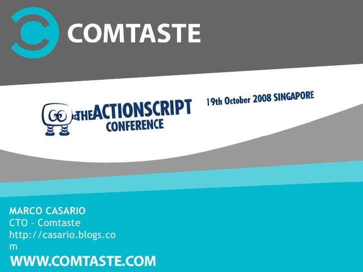 The ActionScript Conference 08, Singapore - Developing ActionScript 3 Mash up applications
