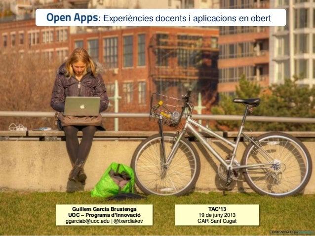 Presentació Open Apps al TAC'13