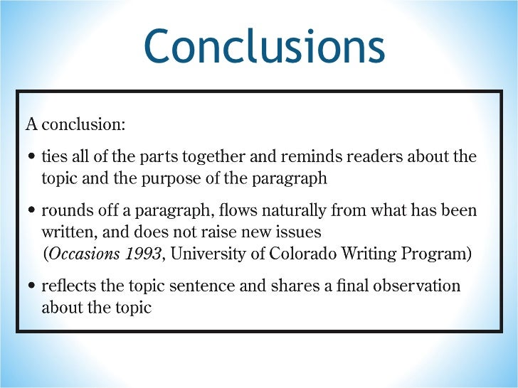 Essay Writing Conclusion