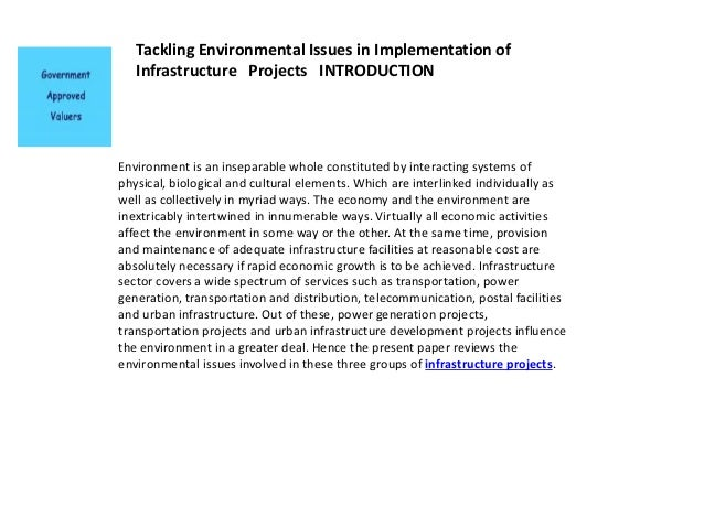 an essay on environmental problems