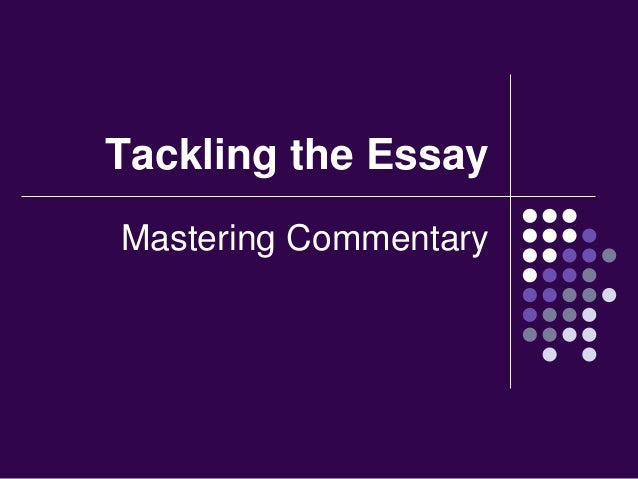 What is a commentary essay