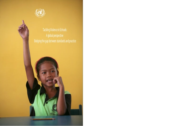 Tackling Violence in Schools - SRSG VaC Publication