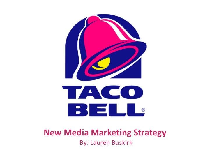 New Media Marketing Strategy  By: Lauren Buskirk
