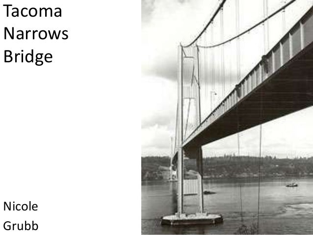 tacoma narrows bridge study Just like the tacoma narrows bridge, the instabilities continued to grow: in the  first 5 years, the program re-baselined annually (four re-plans) these were.