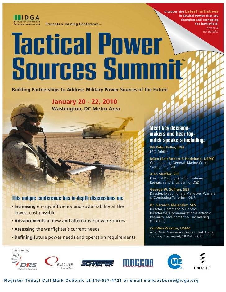 Tactical Power Summit 2010