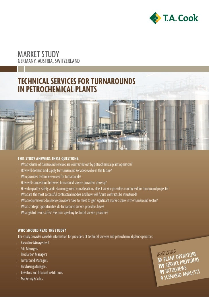 Technical Services for Turnarounds in Petrochemical Plants Germany, Austria, Switzerland