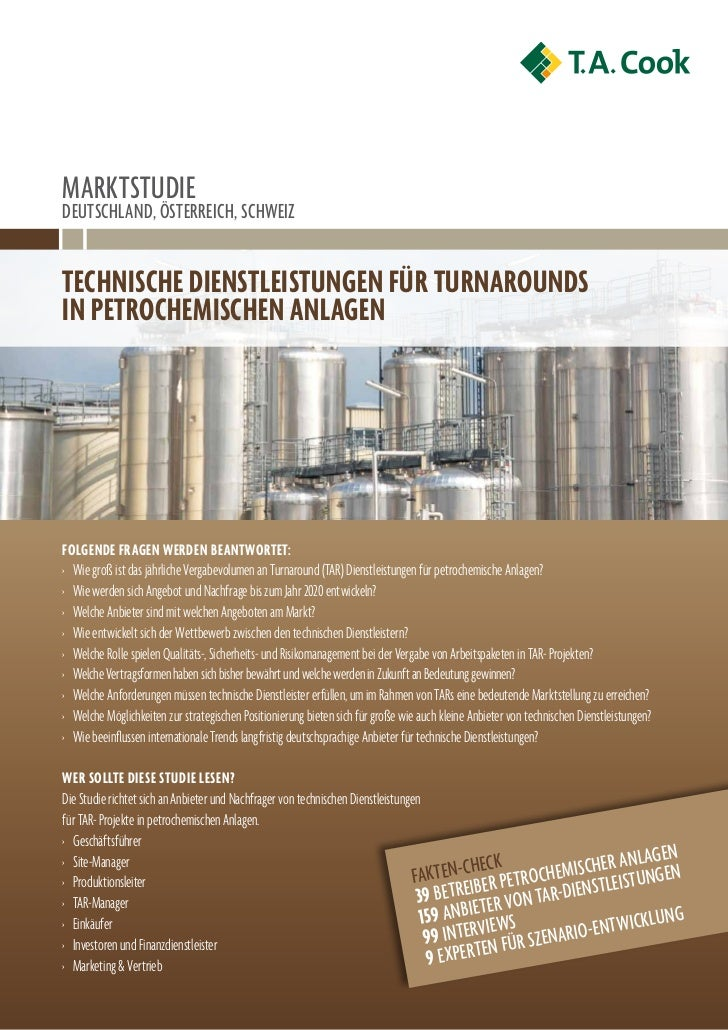 MArKtStuDIeDeutSchlAnD, ÖSterreIch, SchWeIzTechnische DiensTleisTungen für TurnarounDsin peTrochemischen anlagenfolgenDe f...
