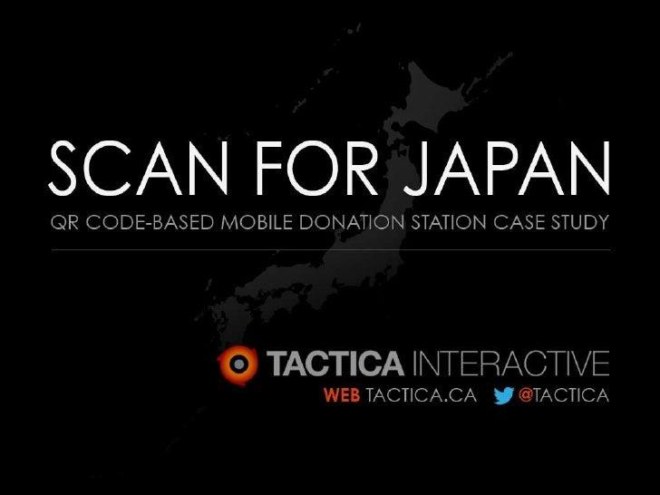 """Scan for Japan"" QR Code Case Study"