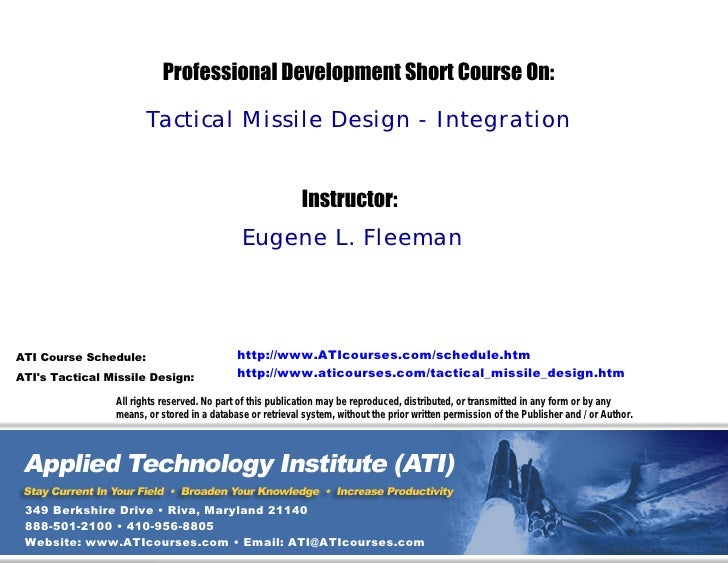 Tactical Missile Design