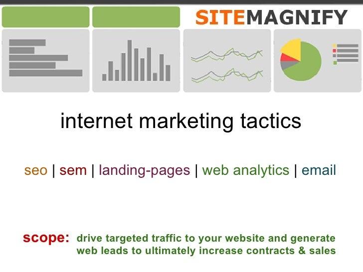 Internet Marketing Tactic Capabilites