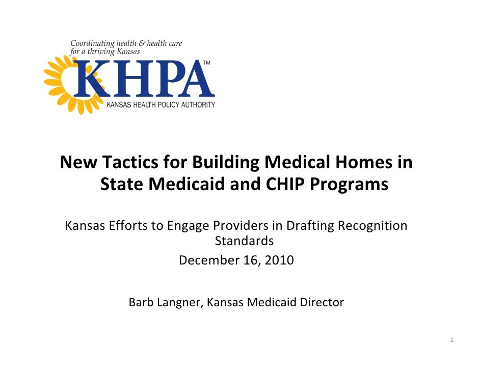 Kansas Efforts to Engage Providers in Drafting Recognition Standards