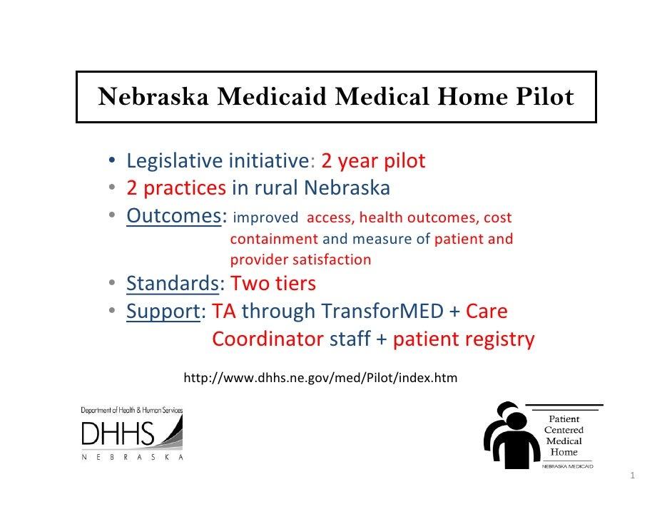 taft-New Tactics for Building Medical Homes in State Medicaid in Nebraska