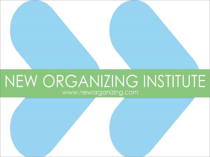 TACTICS & TIMING             @neworganizing