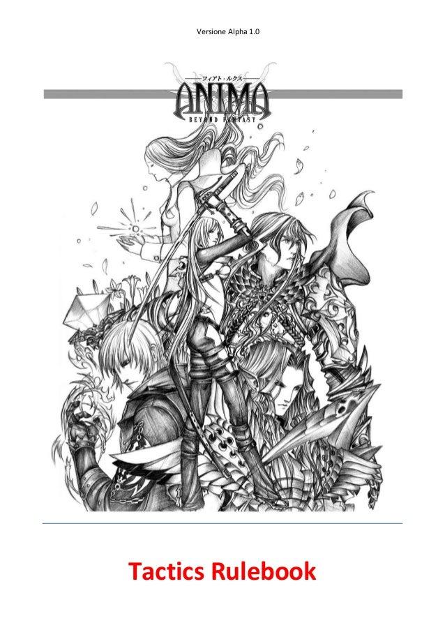 Versione Alpha 1.0Tactics Rulebook