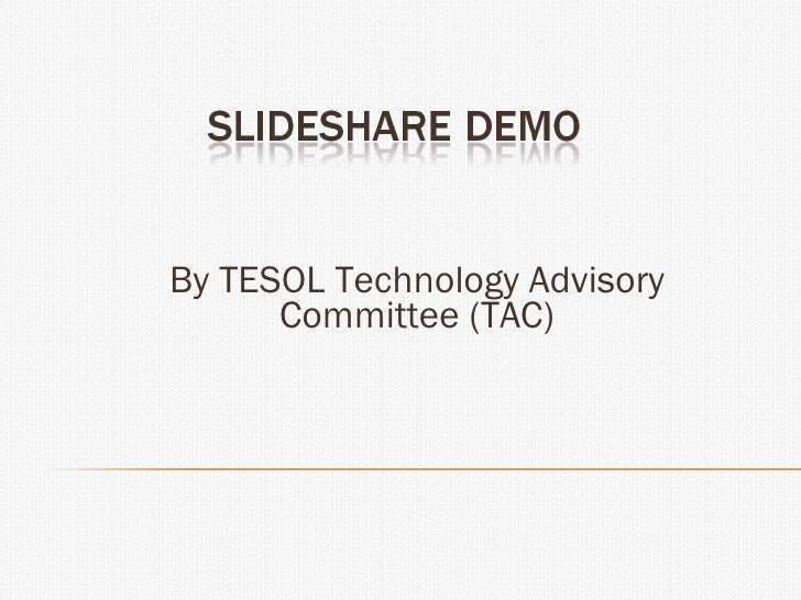 By TESOL Technology Advisory Committee (TAC)