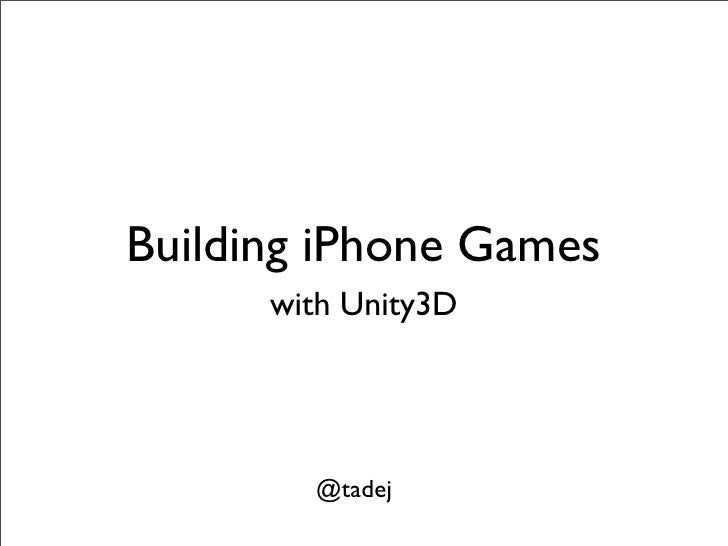 Tadej Gregorcic | iPhone Unity Games at Mobile Monday Slovenija #0 - Pilot
