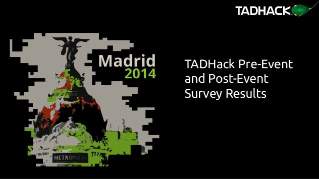 TADHack Pre-Event and Post-Event Survey Results