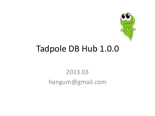 Tadpole DB Hub 1.0.02013.03hangum@gmail.com